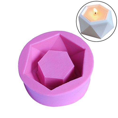 DIY Flower Pot Silicone Rubber Molds Handmade Craft Mold Candle Succulent Plants Planter Vase Ashtray Mould Tool (Diamond Shaped)