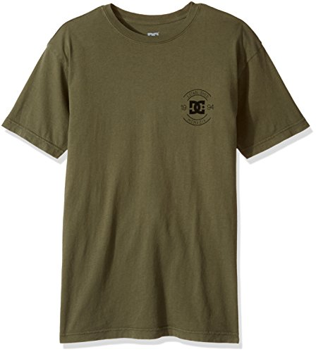 DC Mens Logo Short Sleeve T-Shirt, Stampy Dark Olive, X-Large