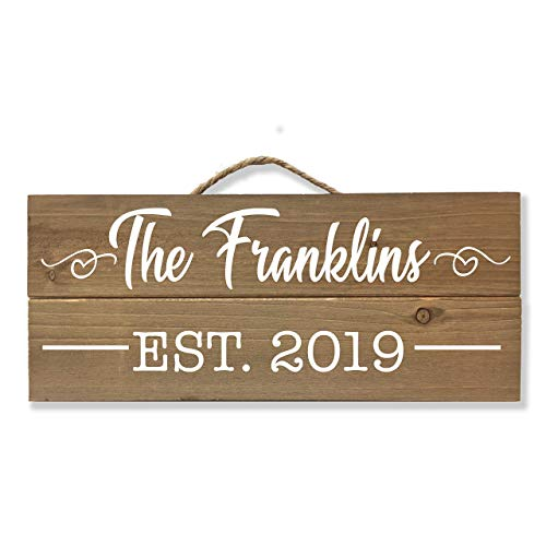 Family Established Plaque - Personalized Family Name Sign, Custom Wedding Gift, Established Family Plaque