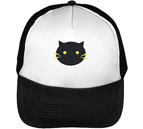 Beisbol Minimal Cat Blanco Hombre Snapback Gorras Negro rwATIw