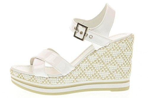 Weiß Frauen Schuhe 707 Giardini Sandalen Nero Keil P717700d