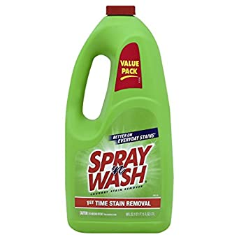 Spray 'n Wash/Resolve Laundry Clothing Stain Remover, Refill Bottle, 60 oz (Case of 6) - (Packaging May Vary)