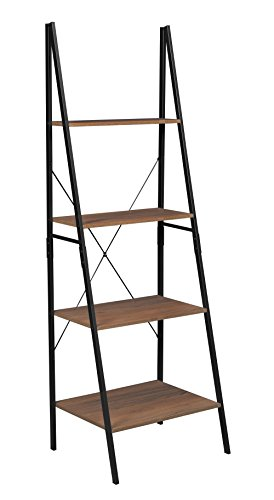 Niche NSBC7224UW Soho Modern Ladder a Frame Bookcase, 72'' H x 24'' W, Urban Walnut by Niche