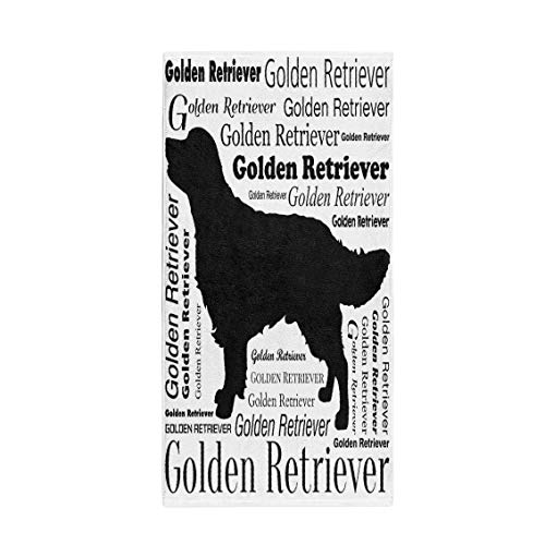 Golden Silhouette Retriever - Pinbeam Bath Towel Brown Adorable Golden Retriever Silhouette Yellow Animal Attractive Towel Beach Towel