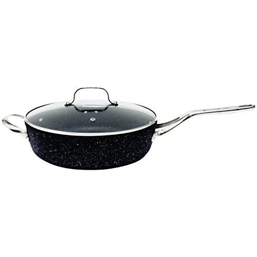 Starfrit SRFT060318 The Deep Fry Pan with Glass Lid, 11-Inch