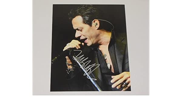 Marc Anthony Iconos Signed Autographed 8x10 Glossy Photo Loa at Amazons Entertainment Collectibles Store