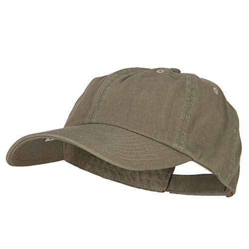 MG Low Profile Dyed Cotton Twill Cap - Olive OSFM]()