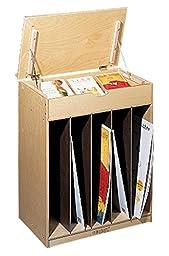 Childcraft 204150 Mobile Magnetic Dry Erase Language Center, Double-Sided, Birch Veneer, 4-Coat UV Acrylic, 32-5/8\