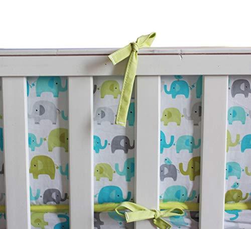 Baby Safari Elephant 10pcs Crib Bedding Set with Musical Mobile