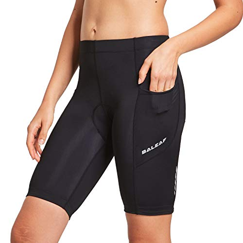 BALEAF Women's Cycling 3D Padded Shorts Side Pocket UPF 50+