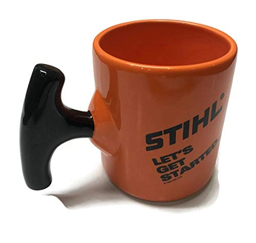 Stihl Custom Starter Mug 14 oz Father's Day gift ceramic coffee mug pull start ;#by:ombwarehouse