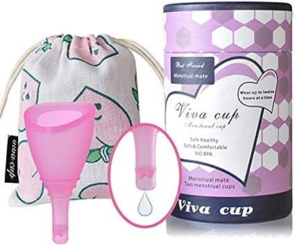 Copa menstrual con válvula de descarga de luna, tazas ...