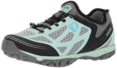 Pearl iZUMi Women's W X-ALP Journey Cycling Shoe, Smoked Pearl/Mist Green, 39.0 M EU (7.5 US)