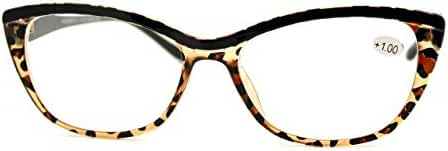 Clear Lens Glasses With Bifocal Reading Lens Womens Rectangular Cateye