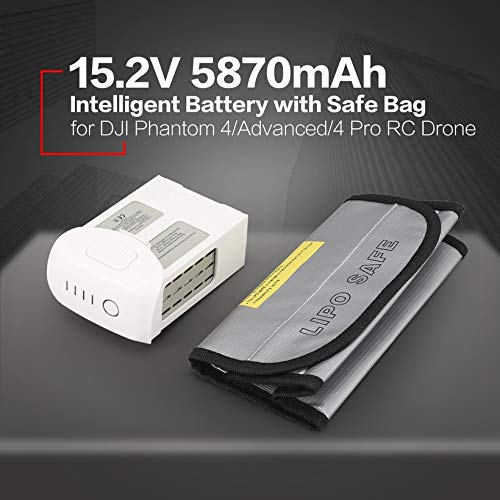 Wikiwand 15.2V 5870mAh Intelligent Battery Safe Bag for Phantom 4/Adv/4 Pro Drone by Wikiwand (Image #4)
