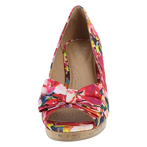 Dexflex Comfort Dames Cate Bow Wedge Multi
