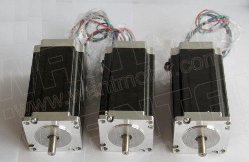 Gowe 3 PCS High Nema 23 Stepper Motor 425oz-in, 2 phase, 57BYGH115-003B CNC Mill Cut Engrave