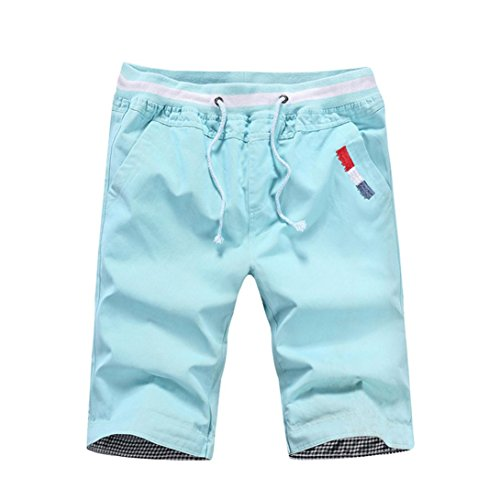 PASATO Clearance Mens Shorts Swim Trunks Quick Sport Beach Surfing Swimming Water Pants(Blue, XXL)