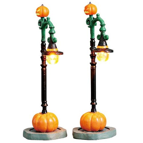 (Lemax Spooky Town Witch Pumpkin Patch Lights, Set of 2, B/O (4.5V) #74217)