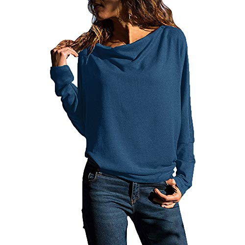 (POHOK Clearnce Womens Long Sleeve Blouses Pullover Sweatshirts Loose Fit Tops)