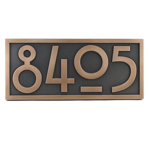 Stickley Numbers Only 4 Number 16 x 7 - Raised Bronze Patina ()