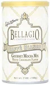 Bellagio Caffe Bianco Gourmet Mocha Mix, 7-Ounce Canisters (Pack of 4)