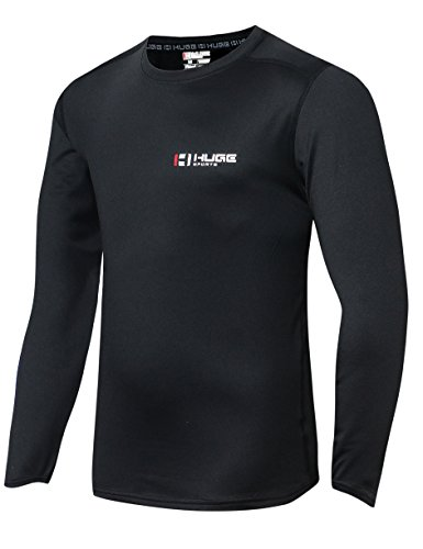eece ColdGear Thermal Daily Wear Workout Fitted Shirt Long Sleeves (Black, XL) (Fitted Thermal)