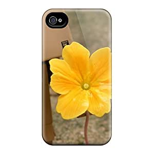 Durable Danbo Flower Back Case/cover For Iphone 4/4s