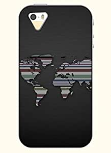OOFIT Phone Case design with Stripe World Map for Apple iPhone 4 4s 4g
