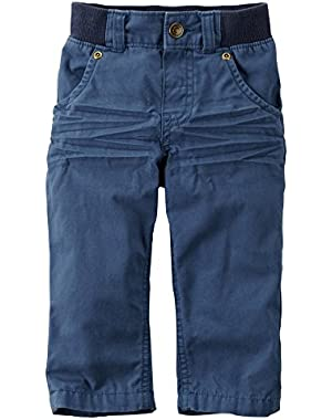 Carter's Boys Navy Pull On Pants (9m)