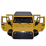 OUYAWEI Toy Unassembled 12.3inch 313mm Wheelbase Body Car Shell for 1/10 RC Crawler Axial SCX10 Jeep Wrangler Yellow