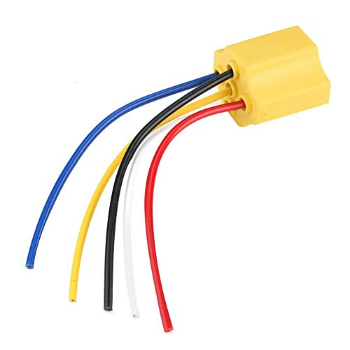 Wiring Harness Relay Socket, Ceramic 5 Pin Automotive Car Wiring Harness Relay Socket 30-100A: