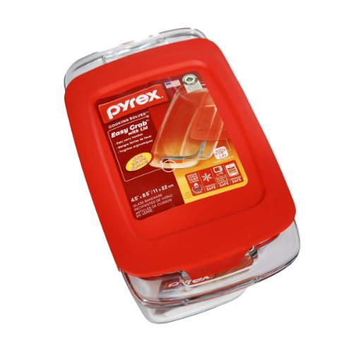 Pyrex Easy Grab with Lid 1.5 QT Loaf Glass Bakeware