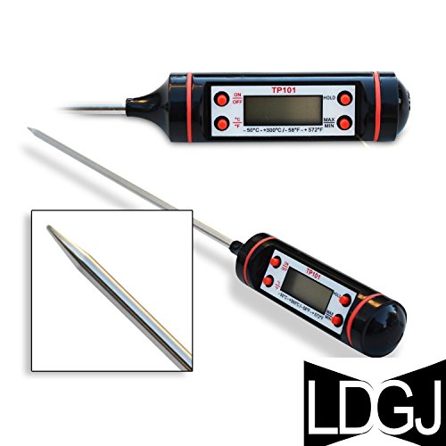 LDGJ Cooking Thermometer - Instant Read - Best Digital Thermometer for All Food, Grill, BBQ and Candy - Rated Thermometer