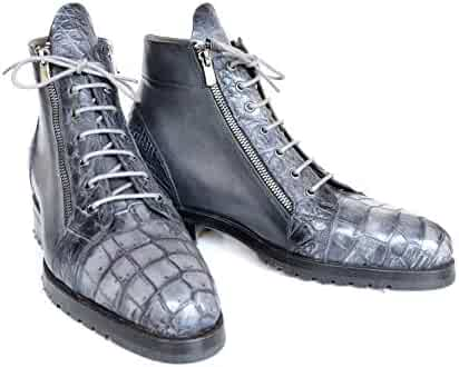 102a5afbe Gucci Men's Leather Ostrich Lace up Ankle Boots 322508. seller: LUX LAIR.  (0). Paul Parkman Gray Genuine Crocodile & Calfskin Side Zipper Boots  (ID#89GRY72)
