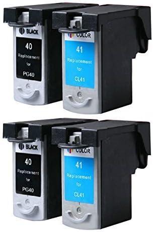 inkmate remanufacturados cartuchos de tinta de repuesto para Canon PG40 0617b002 0615b002 CL41 para Canon Impresora PIXMA MP160 MP170 MP160 MP180, MP460 MX300 MX310 (2 negro 2 Color, Paquete de 4): Amazon.es: