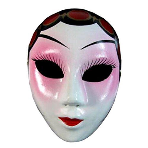 Kylin Express 2PCS Beijing Opera Mask, Chinese Opera Mask, Costume Mask, Face Mask, Cosplay ,#F