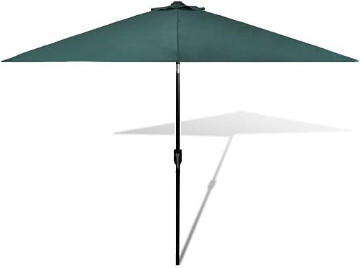vidaXL Sombrilla para Jardín Poste de Acero y Tela Verde 3 m Parasol de Patio: Amazon.es: Hogar