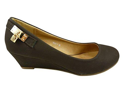 Chaussmaro - Zapatos de Vestir Mujer Marrón - marrón