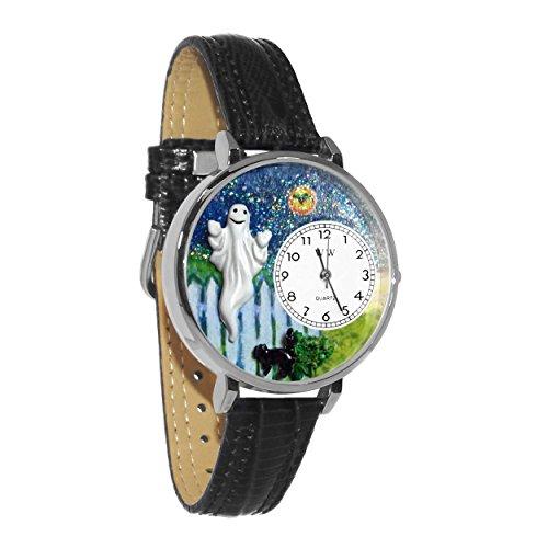 Whimsical Watches Unisex U1220032 Halloween Ghost Black Skin Leather -