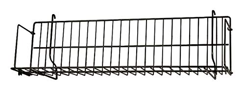 24 x 6 x 6 ½ inch Black CD/DVD/Cassette Shelf - for Slatwall or Pegboard - Set of 2 ()