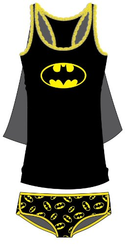 DC Comics Women's Batgirl Lace Trim Tank & Panties Set (2 Pack)