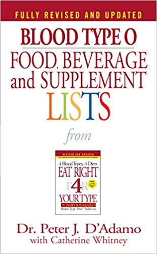 [0425183092] [9780425183090] Blood Type O Food, Beverage and Supplement Lists (Eat Right 4 Your Type) Fully Revised & Updated Edition-Mass Market Paperback ()