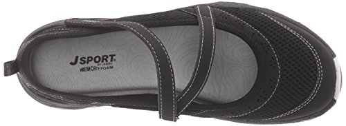 JSport by Jambu Womens Avalon Mary Jane Flat Black/Grey RMBwbZtW