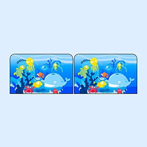 CamKpell Sombra Flexible Ventanilla magn/ética para el autom/óvil Sombrilla Caricatura Protector Solar Sombra Productos para el Cuidado de los ni/ños Mundo Submarino