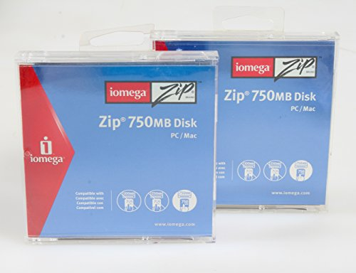 IOMEGA ZIP 750MB DISK PC/MAC NEW , SET OF 2 by Iomega