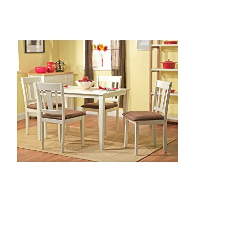 Stratton White 5-piece dining table set