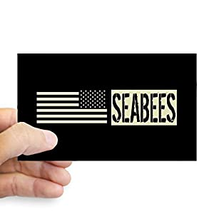 CafePress U.S. Navy: Seabees (Black Flag Bumper Sticker from CafePress