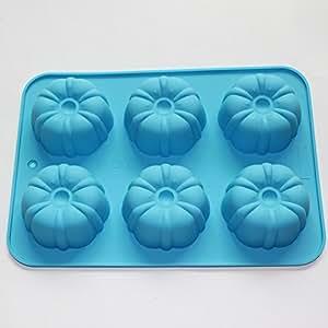 X-Haibei Pumpkin Muffin Bundt CupCake Silicone Mold Soap Chocolate Jelly Bakeware Pan