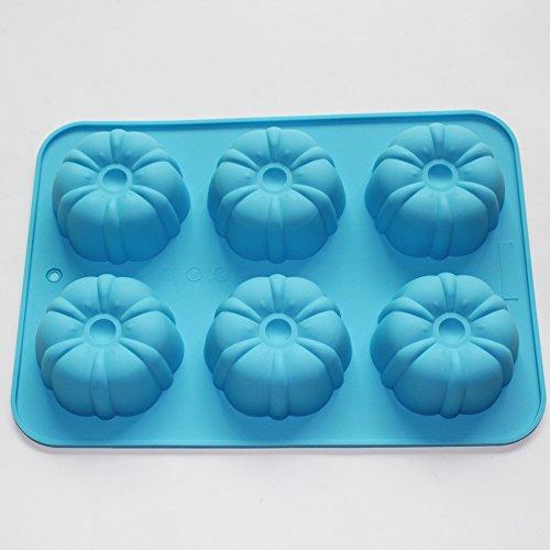 Pumpkin Cake Mold (X-Haibei Pumpkin Muffin Bundt CupCake Silicone Mold Soap Chocolate Jelly Bakeware Pan)